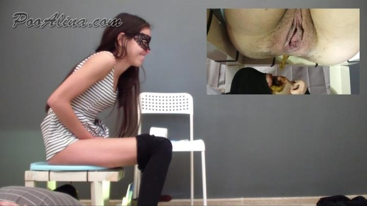 Anna - Toilet slave kisses ass and anus shitting girls (2021 | FullHD)